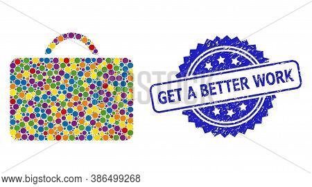 Vibrant Collage Case, And Get A Better Work Rubber Rosette Seal. Blue Stamp Seal Has Get A Better Wo