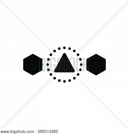 Black Solid Icon For Differ Other Another Discontiguous Splits Asunder Various Apart Different Asund