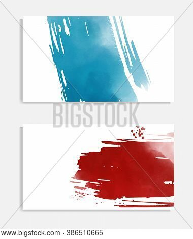 Watercolor Card. Banner Sale Poster. Web Banner Element. Vector Holiday Illustration. Vector Brush S