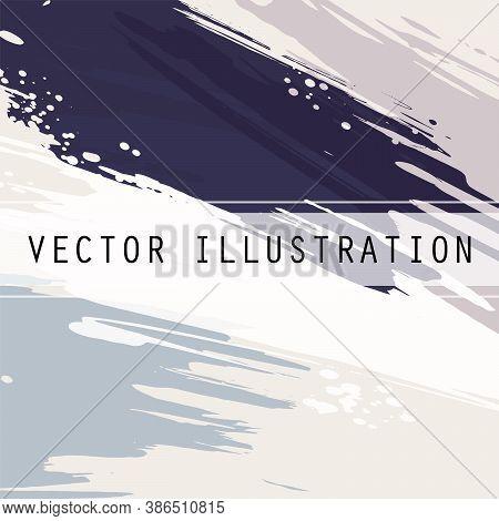 Design Template. Design Element. Summer Background. Abstract Grunge Frame Texture. Brush Background.