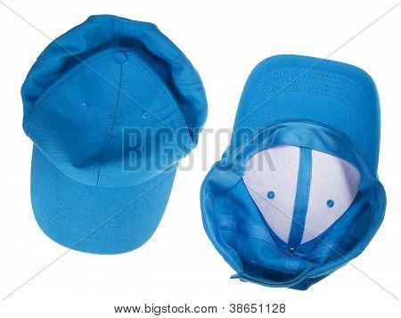Blue Crumpled  Cap