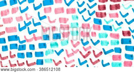 Predator Pattern. Pink, Blue And White. Cobra Leather Wild Surface. Handdrawn Artistic Snake Texture