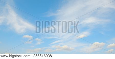 White clouds on beautiful blue sky.