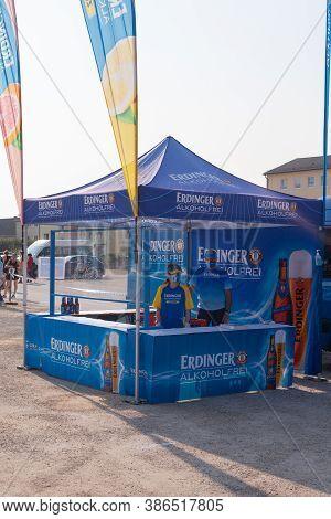 Altötting, Germany - 13.september 2020:promotion Stand And Staff Of Erdinger Alkoholfrei At The Omv