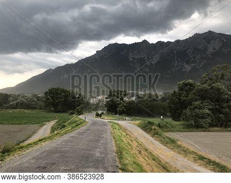 Stormy Day Over An Acre In Liechtenstein