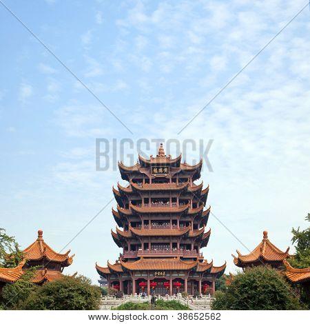 Yellow Crane Tower temple Landmark Travel Destination, Wuhan Hubei China