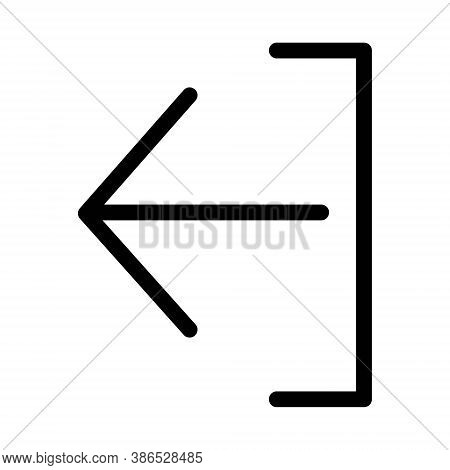 Back Or Undo Arrow Icon - Vector Illustration. Left Arrow Sign.