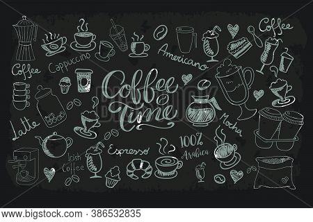 Coffee Background. Coffee Background For A Coffee Seller. Background For Advertising Coffee.
