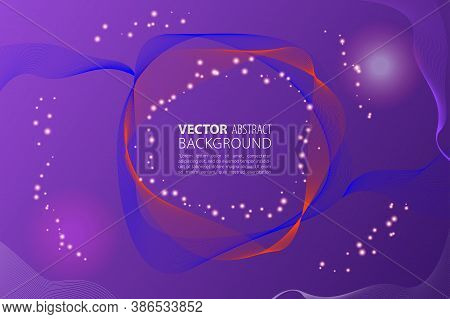 Dynamic Abstract Liquid Flow Particles Background. Shining Abstract Particle Flow Background. Futuri