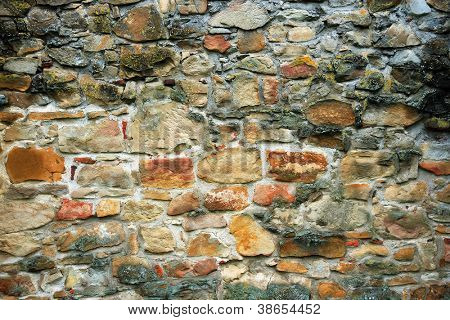 Abstract architectural detail of Old Cistercian Church in Carta, Romania, Europe poster