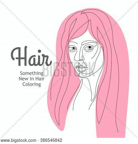 Facial Expression Portrait Continuous One Line Vector Illustration.continuous Line Art.