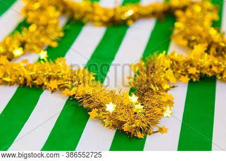 Tinsel Decorations For Decor Purposes At Corporate Christmas Gala Event Party