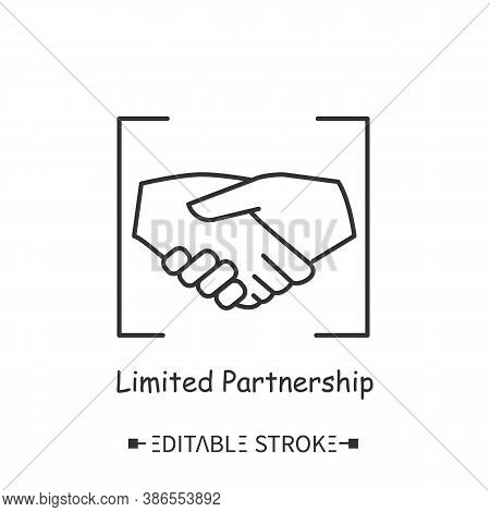 Limited Partnership Line Icon. Limited Liability. Temporary, Short-term Partnership. Business Profes