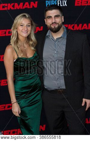 Michaela Bourne and Alex Bentley attends the premiere of