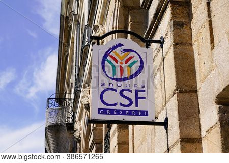 Bordeaux , Aquitaine / France - 09 20 2020 : Csf Group Creserfi Sign And Logo Of French Personal Civ