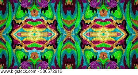 Bohemian Fashion Print. Mexican Rug. Aztec Motif. Bohemian Fashion Texture. Green Tribal Repeat Rug.