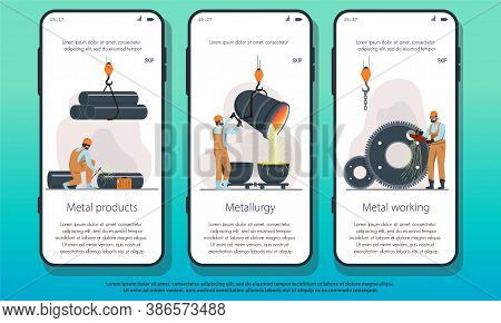 Metallurgy Industry Landing Page Showing Metal Products, Smelting And Production And Manufacturing O
