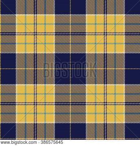 Tartan Cloth Pattern. Checkered Plaid Vector Illustration. Seamless Background Of Scottish Style Gre