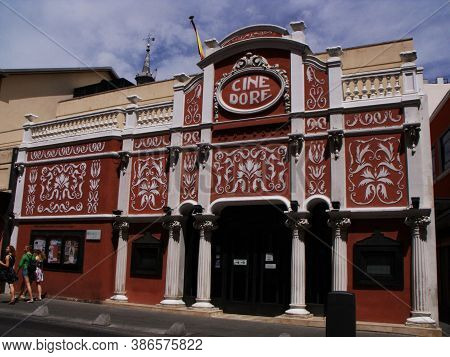 Madrid, Spain, August 15, 2015: Facade Of Cine Dore, Home Of The National Film Library. Madrid