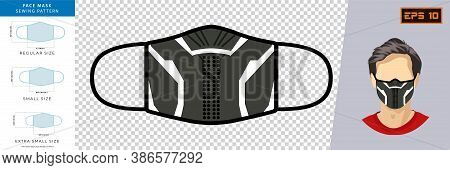 Vector Graphic Of Halloween Masks In Mask Design. Abstract Face Mask Design Concept. Face Mask Desig