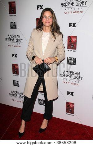 LOS ANGELES - OCT 13:  Amanda Peet arrives at the