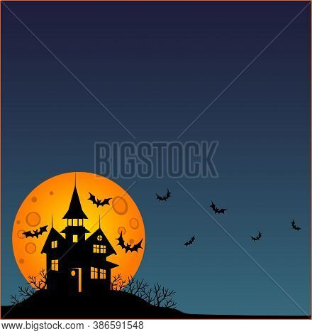 Halloween - Square Wallpaper - Full Color Stock Illustration. Baner, Wallpaper Or Flyer With Copy Sp