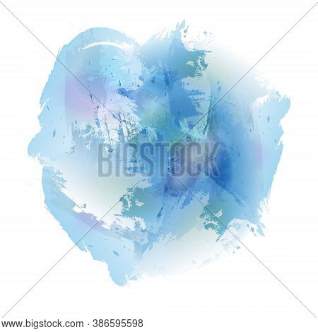 Watercolor Abstraction. A Blue Watercolor Spot. Vector Stock Illustration For Backgrounds And Theme