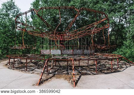 Abandoned Attraction In Ghost Town Pripyat, Chernobyl Exclusion Zone