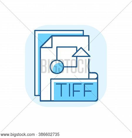 Tiff File Blue Rgb Color Icon. Tagged Image File Format. Tif. Professional Photography. Printing And