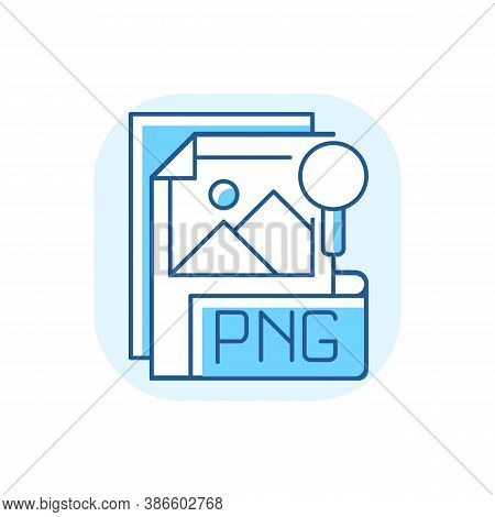 Png File Blue Rgb Color Icon. Portable Graphics Format. Palette-based, Grayscale Images Support. Los