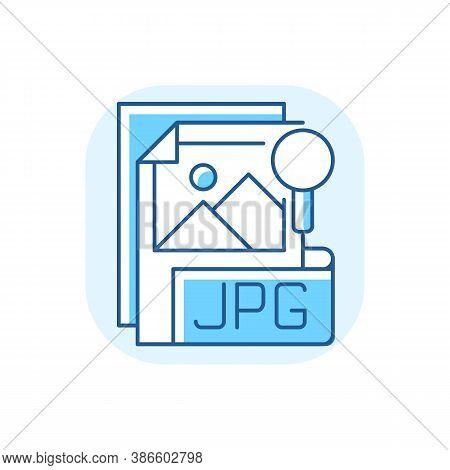 Jpg File Blue Rgb Color Icon. Compressed Image Format. Digital Images. Jpeg. Lossless Coding Mode. S