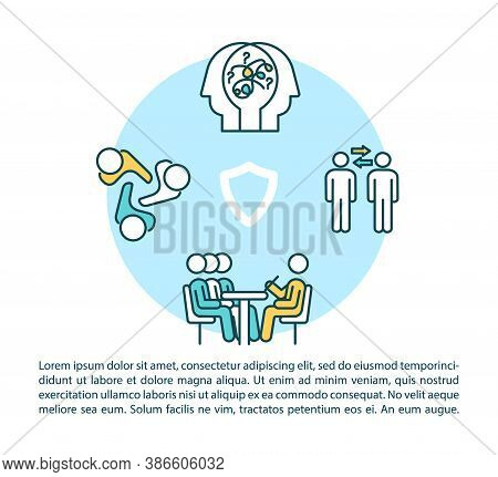 Psychotherapy Concept Icon With Text. Psychologist Assistance, Interpersonal And Group Counseling. P