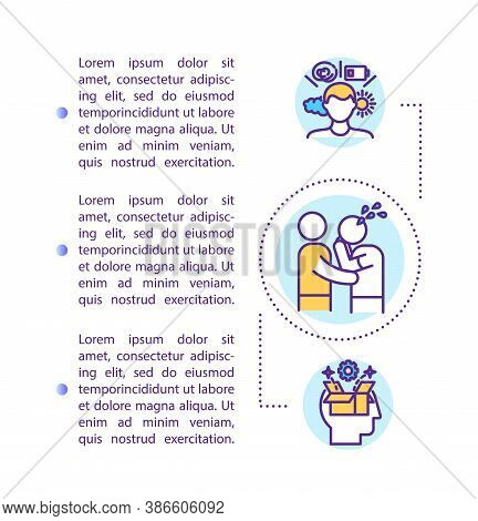 Psychological Support Concept Icon With Text. Interpersonal Counseling And Compassion. Ppt Page Vect