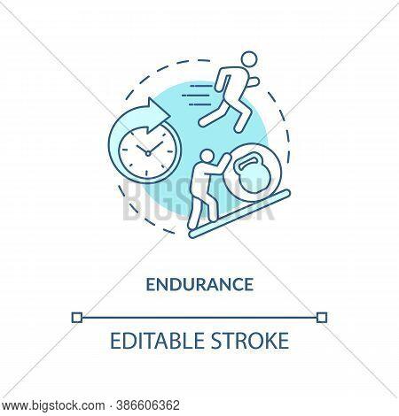 Enhance Endurance Concept Icon. Sports Energy Drinks Idea Thin Line Illustration. Body Balance. Athl