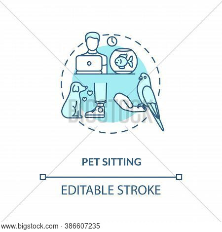 Pet Sitting Concept Icon. Pet Services. Animal Care Options Types. Little Companion Playing. Animal