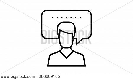 Speech Bubble, Thinking. Person Message. User Chat. Man Thoughts Icon, , Cloud , People, Customer Id