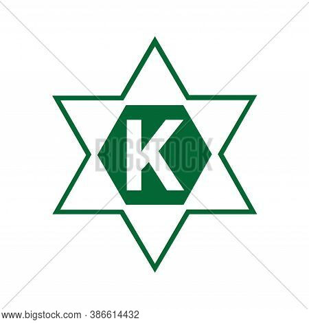 Kosher Food Symbol Icon With A White Background