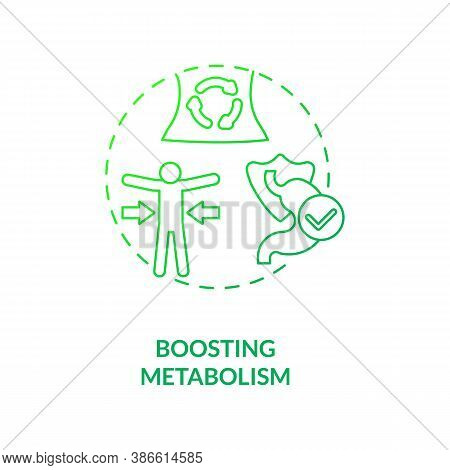 Boosting Metabolism Concept Icon. Health Care Ideas. Getting Nutritions From Foods. Better Body Advi