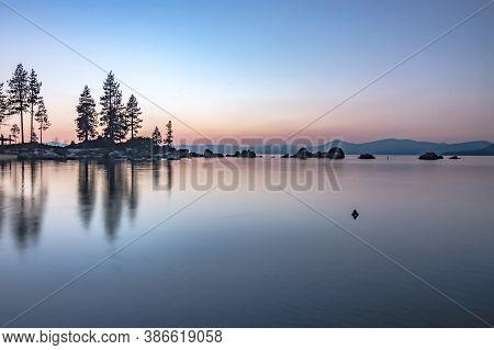 Beautiful Sierra Scenery At Lake Tahoe California