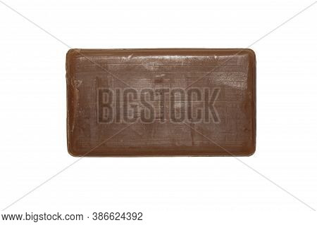 Tar Soap Isolated On A White Background.tar Soap Therapeutic.