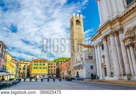 Palazzo Del Broletto Palace, Cathedral Of Santa Maria Assunta, Duomo Nuovo Or New Cathedral Roman Ca