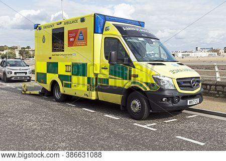 Weston-super-mare, Uk - September 7, 2019: An Ambulance Belonging To South Western Ambulance Service