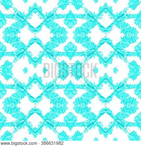 Seamless Native Ethnic Pattern. Indian Native Swimwear Design. Artistic Grunge Border. Red And Purpl