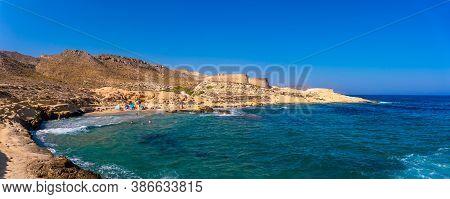 The Beautiful Coastline Of El Playazo De Rodalquilar In The Natural Park Of Cabo De Gata, Nijar, And