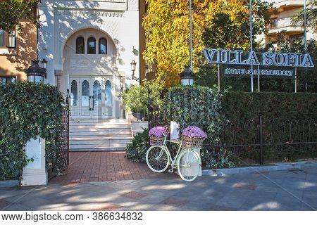 Yalta, Crimea, Russia - November 04, 2018: The Villa And The Restaurant Sofia On The Seafront Of Yal