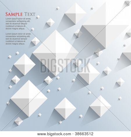 eps10 vector top view pyramid elements background