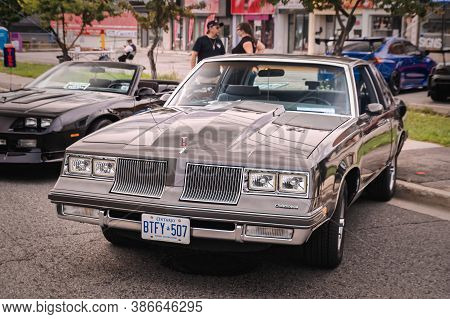 Toronto, Canada - 08 18 2018: 1984 Oldsmobile Cutlass Supreme Oldtimer Car Made By Oldsmobile, A Div