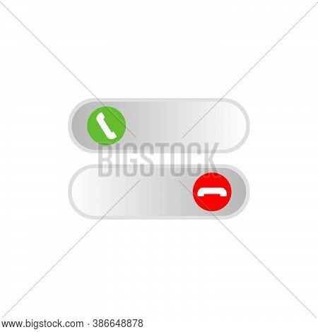 Accept And Reject Calls Icon Design Template Isolated