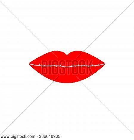 Woman's Lips Vector Design Template Illustration