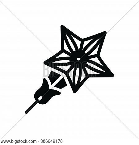 Black Solid Icon For Star-glory Star Glory Climb Quamoclit Red Creeper Natural Flower Blossom Botani